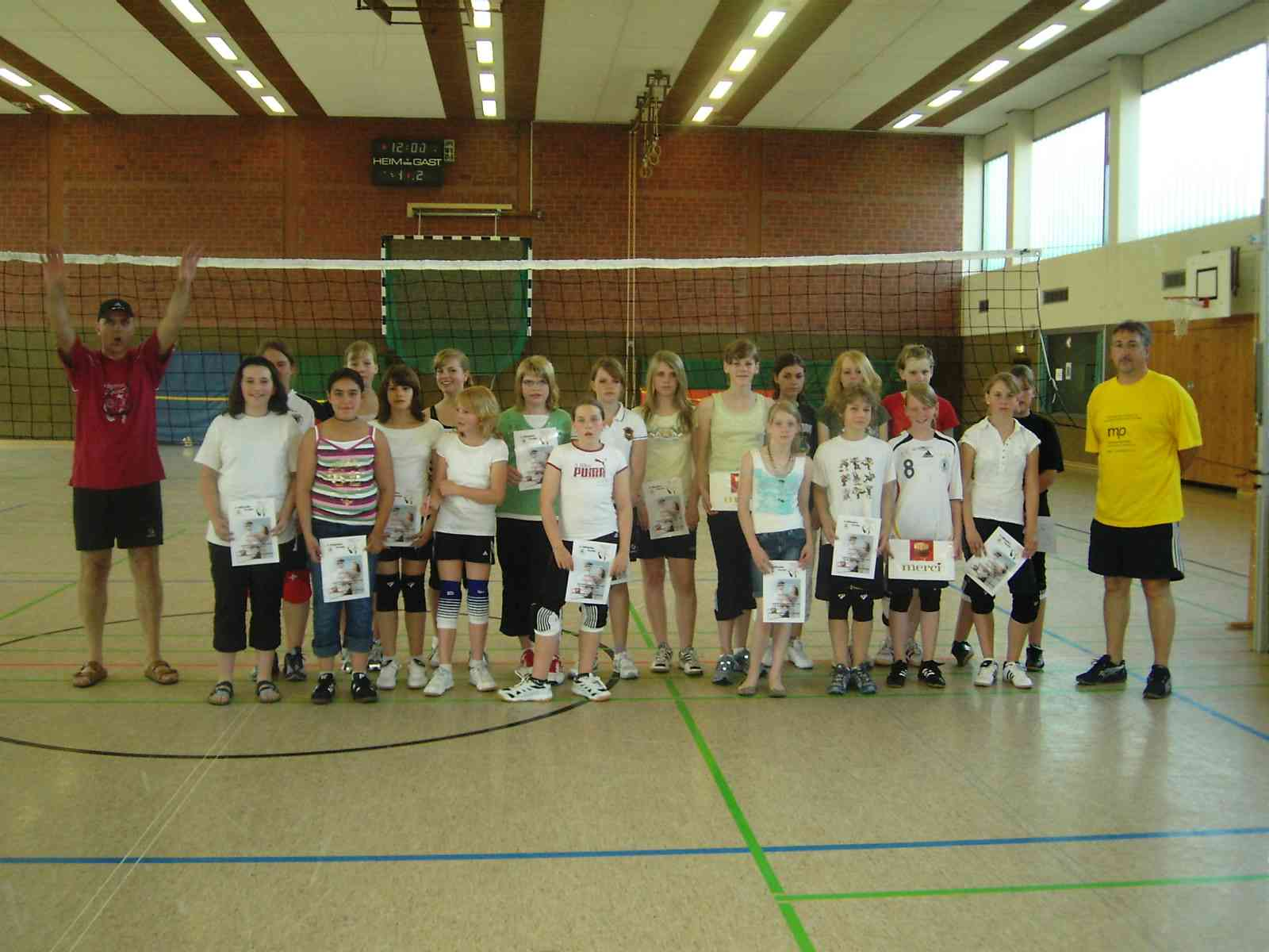 Volleyball-Maedels Anfaenger 2010
